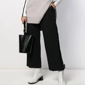 New $495 See by Chloe Women's Trousers Size 36 Tab Hem Black Pants